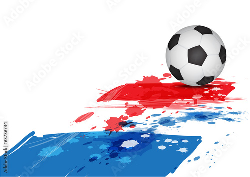 soccer ball on France flag