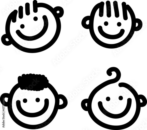Cartoon Smiling Faces
