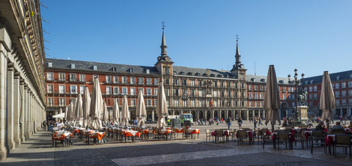 Terrace on the Plaza Mayor in Madrid