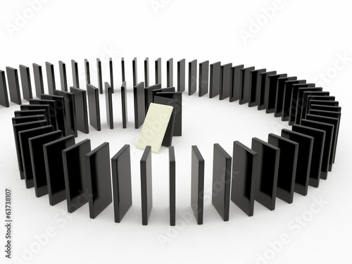 Domino pieces, 3D