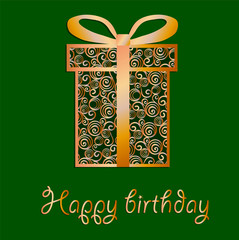Elegant filigree Birthday card in vector format