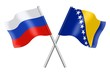 Flags: Russia and Bosnia-Herzegovina