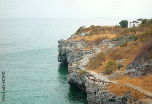 Cliff view on an island in Thailand