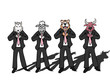 Businessman wild wolf bull sheep tiger