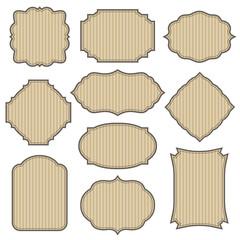 Vintage cardboard frames set.