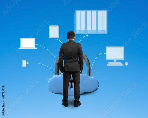 facing computing devices with cloud shape lock