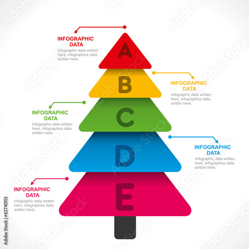creative colorful tree info-graphics design vector