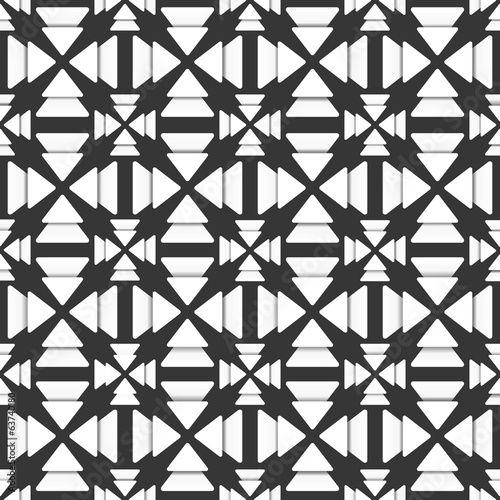 creative white triangle design pattern background vector