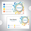 Universal orange-blue laboratory business card.