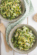 Green quinoa salad with lemon peel