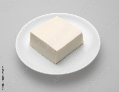 Tofu japanese on white dish