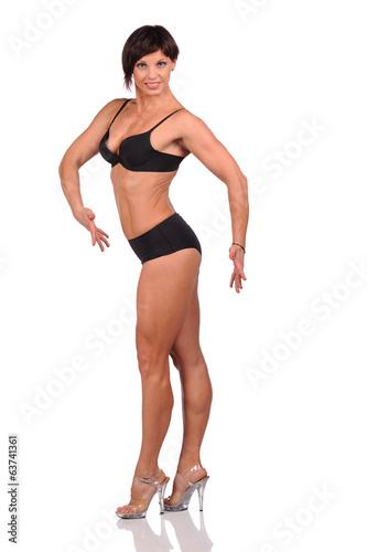Beautiful female body isolated over white background
