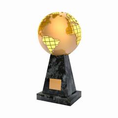 Golden globe award prize statuette