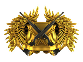 hunting - coat of arms with rifles