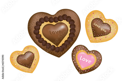 Chocolate Cookies (Hearts shape)