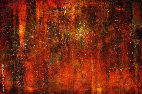 Creepy art grunge background in red tones