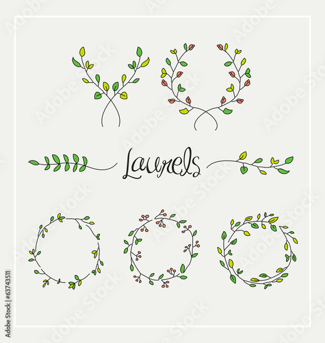 Laurels graphic set