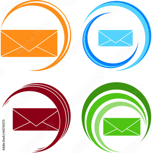 Set of vector icons of letter