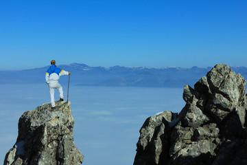 özgüveni yüksek cesaretli tırmanış
