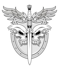warrior sword and shield
