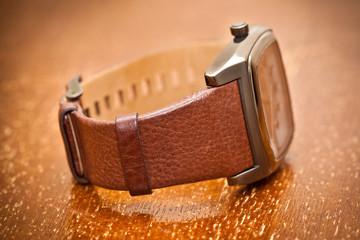 Wristwatch closeup. vintage style