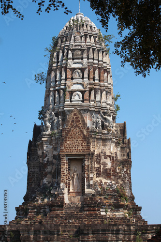old pagoda and bird fry in thailand