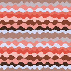 Retro abstract seamless pattern with waves
