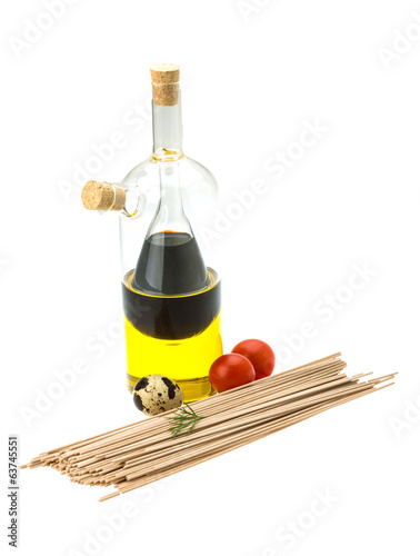 Buckwheat pasta with oil and vinegar