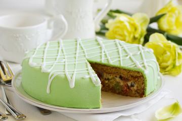 Sicilian Cassata-birthday cake.