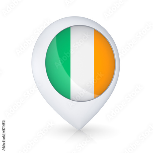 GPS icon with flag of Ireland.