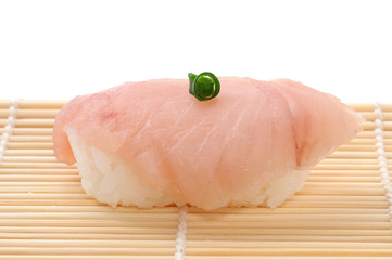 sushi isolated on white background Albacore Tuna