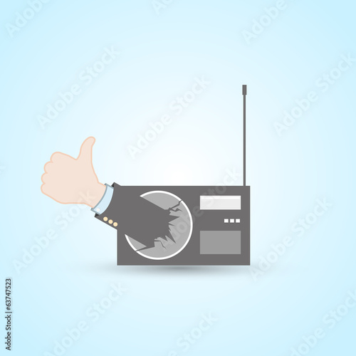 Radio station thumb up