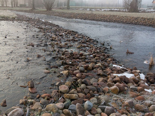 Stone made dam
