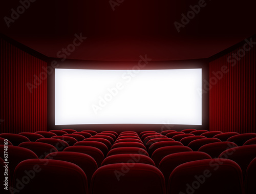 cinema screen for movie presentation