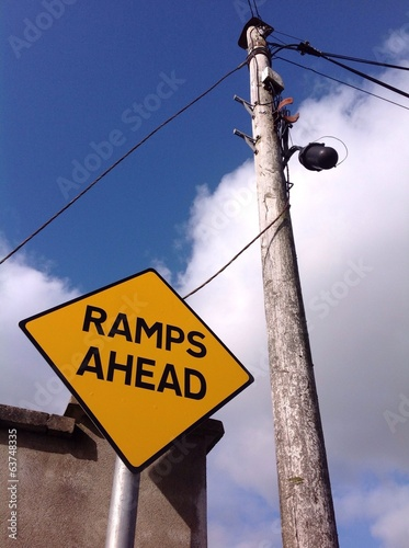 ramps ahead traffic sign