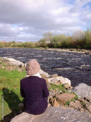 irish riverbank view