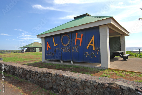 Aloha welcome sign, Hawaii