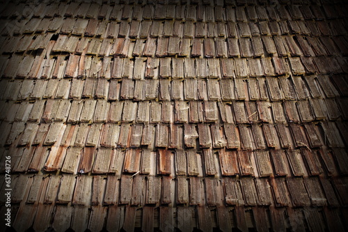 traditional old wooden roof