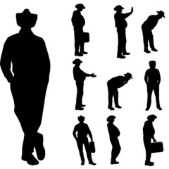 Vector silhouette of businesman.