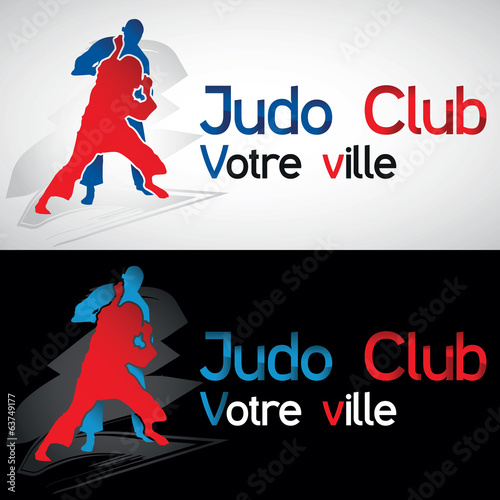 judo judoka club art martial ippon combat karate prise logo