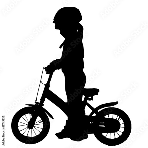 Vector silhouette of a girl.