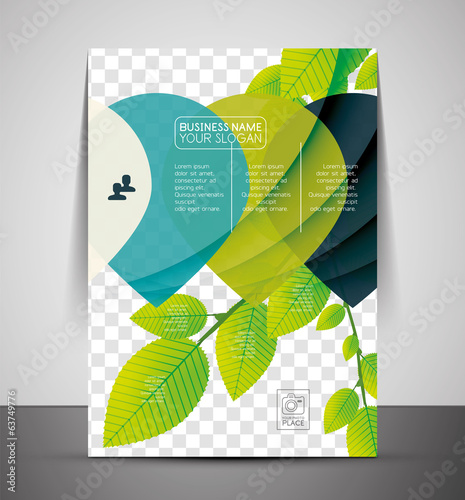 Nature corporate flyer print template