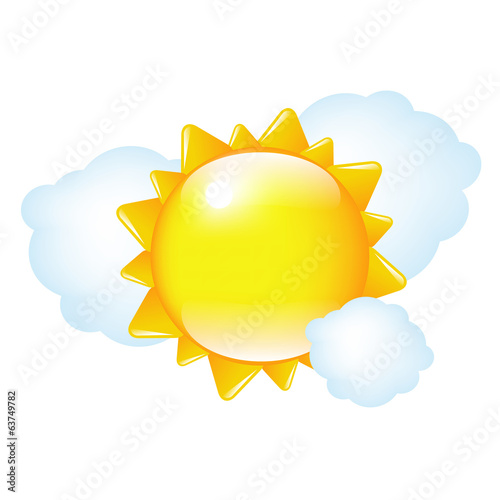 Cartoon Sun And Cloud