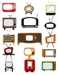 retro television set collection