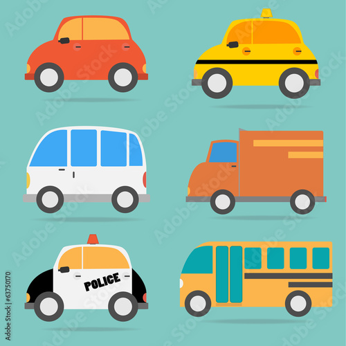Vector of Car vehicle set