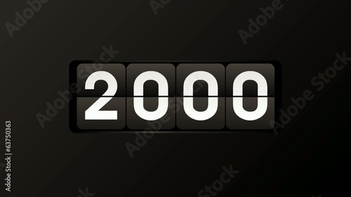 Countdown to the year 2000