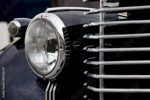 Black Old Car Headlight.