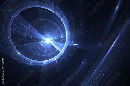 Abstract fractal black hole in space