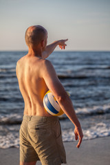 Beach volleyball match