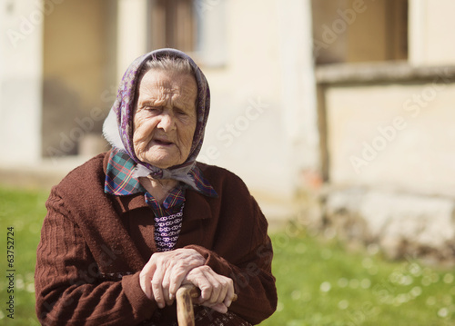 Old woman relaxing